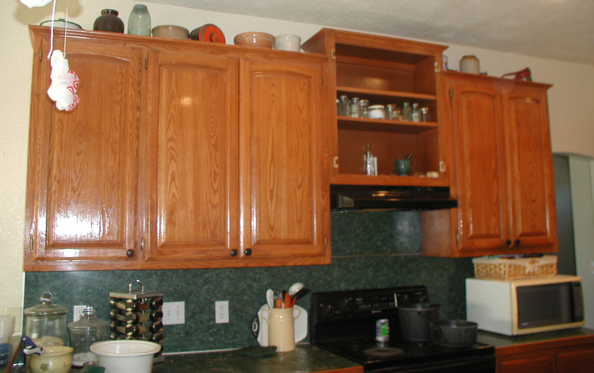 Crown Moulding Above Kitchen Cabinets Kitchen Before Upper Cabinets Stove Wall