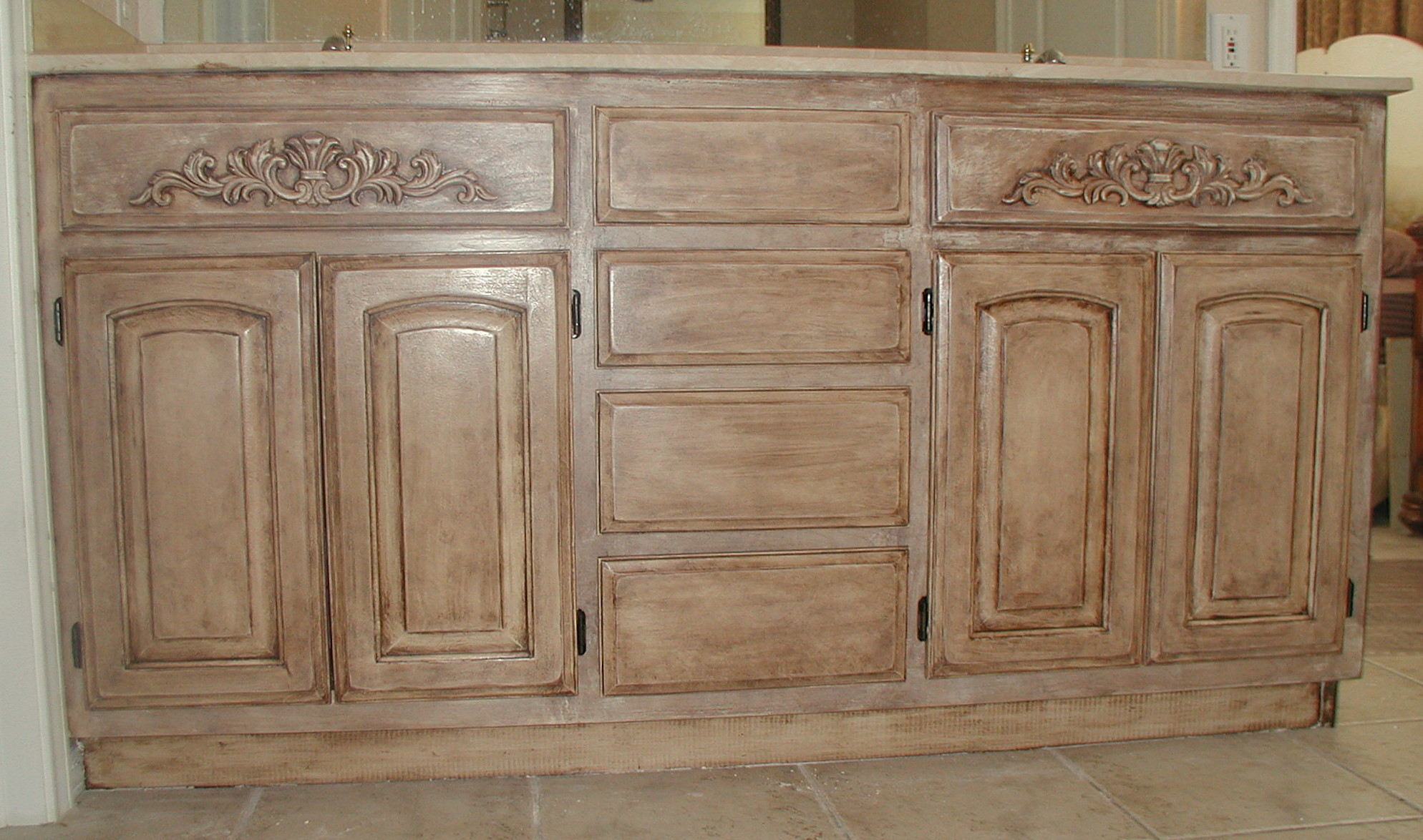 Crackle Paint Kitchen Cabinets Project Transforming Builder Grade Cabinets To Old World