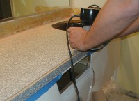 Project: bathroom vanity with laminate over laminate ...