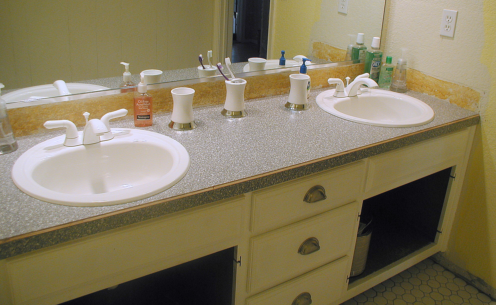 Best Countertops For Bathrooms Project Bathroom Vanity With Laminate Over Laminate