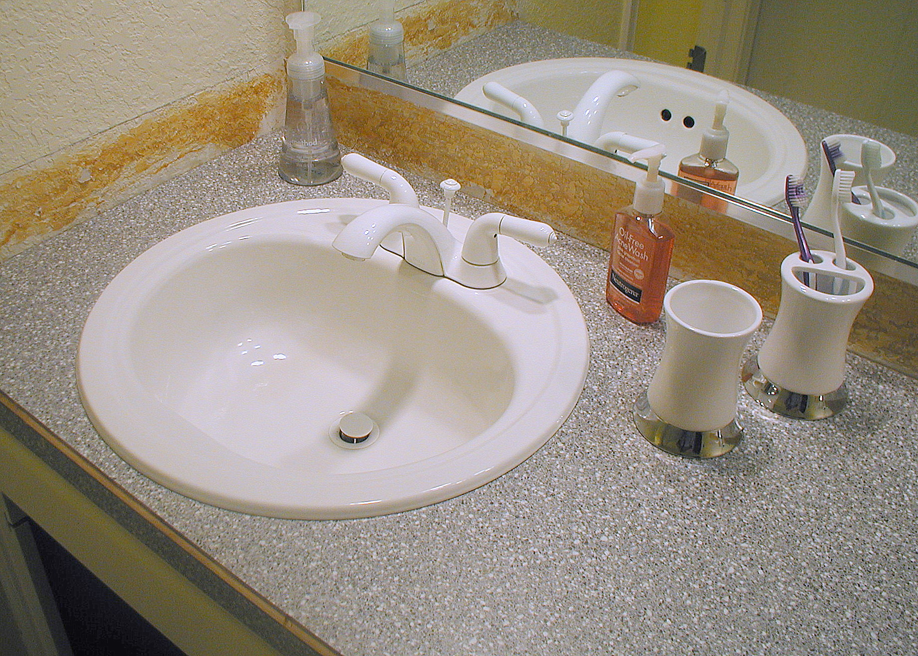 How To Build A Laminate Countertop Project Bathroom Vanity With Laminate Over Laminate