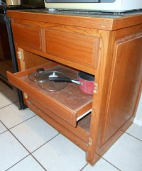 Kitchen: Pull-out Drawers for Pot Storage  Front Porch Cozy