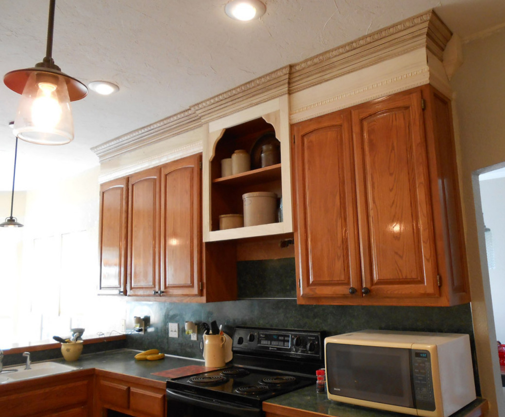 Kitchen Cabinets To Ceiling With Glass Project Making An Upper Wall Cabinet Taller Kitchen