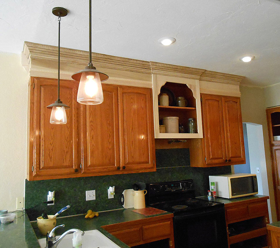 Should Kitchen Cabinets Go Up To Ceiling Project Making An Upper Wall Cabinet Taller Kitchen Front