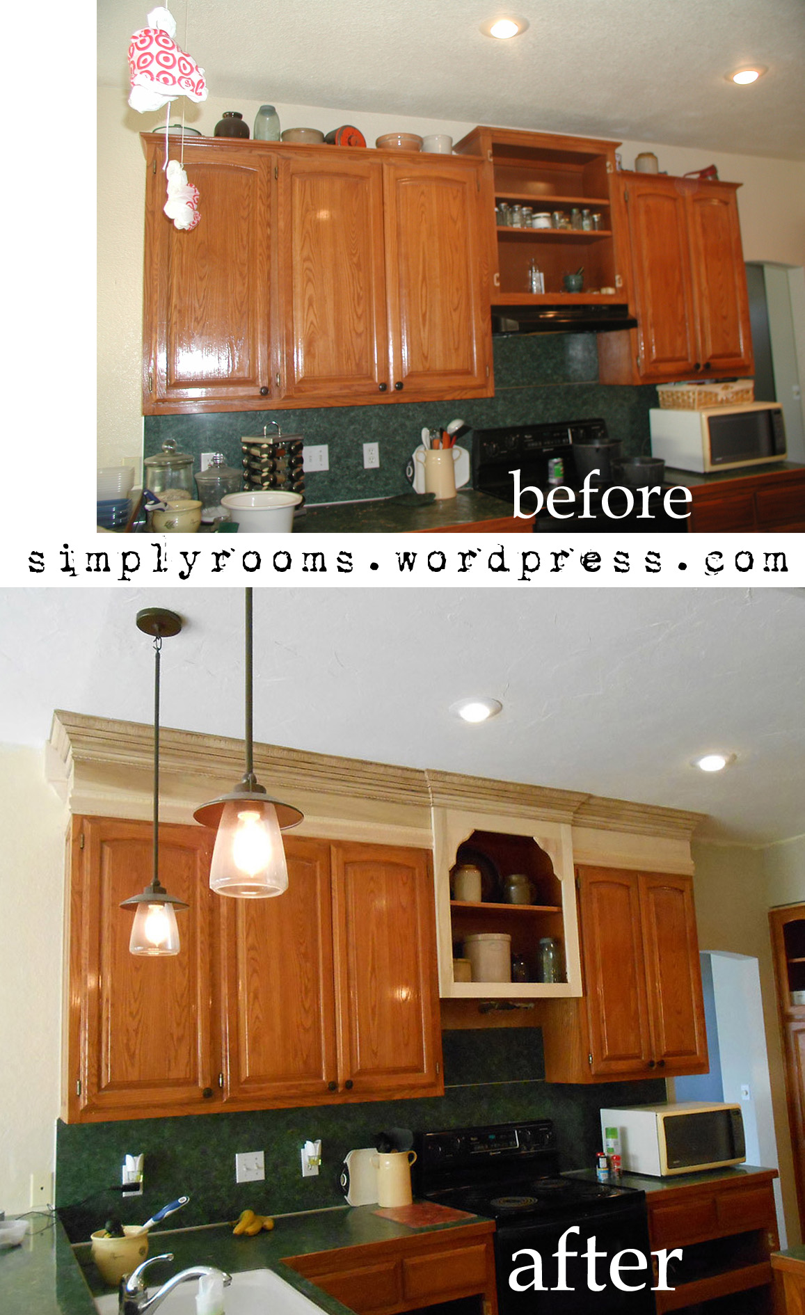 Diy Extend Kitchen Cabinets Project Making An Upper Wall Cabinet Taller Kitchen