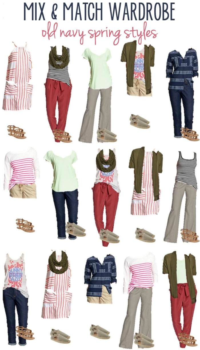 Mix And Match Old Navy Spring Styles 16 Mix Match Wardrobe Options