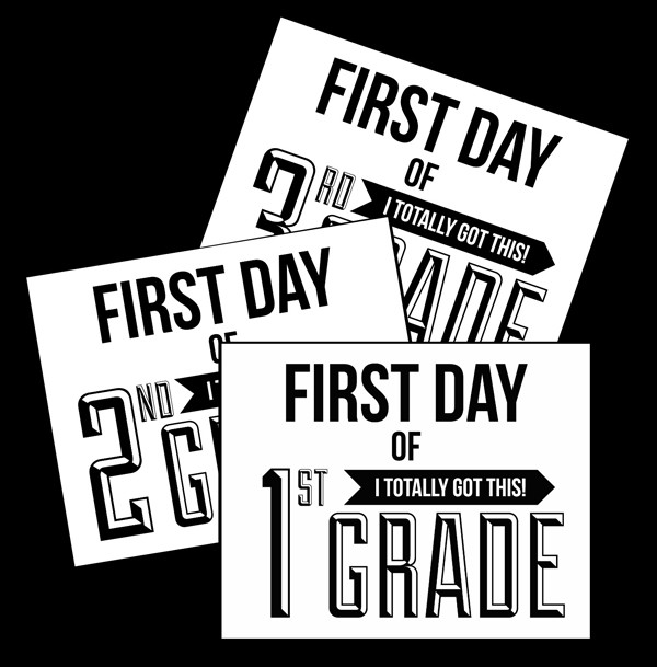 First Day of School Signs 10 FREE Back-to-School Signs