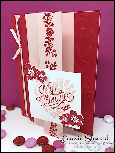 FLASH CARD MASH UP Video - My Valentine Tri-Fold Card - Simply - Tri Fold Card