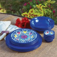 Patio Dinnerware Set & Harvest Pumpkin Candle Basket ...