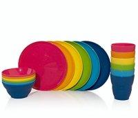 18pc Ellie Kids Plastic Tumblers, Snack Bowls & Snack ...