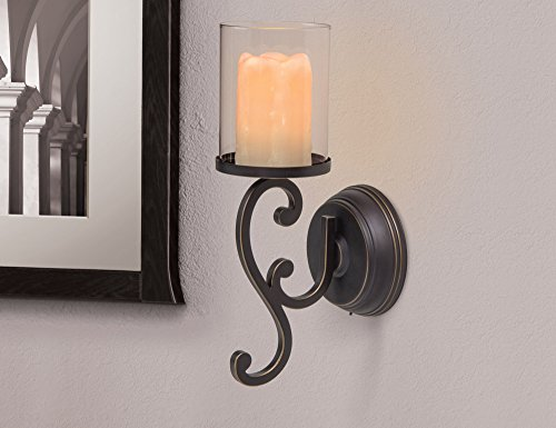 Candle Impressions Flameless Candle Wall Sconces w/ Timer