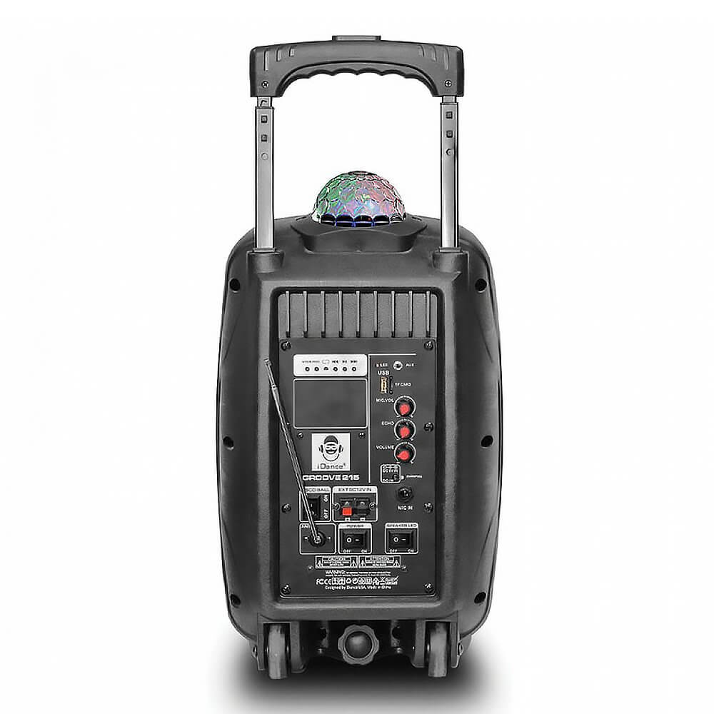 Trolley Lautsprecher Idance Idance Groove 215 Active Speaker Battery Portable Pa Inc Wireless Mic Bluetooth