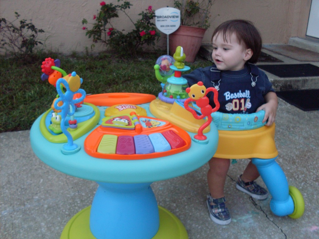Baby Activity Center Bright Starts Around We Go Activity Center Review Simply Stacie
