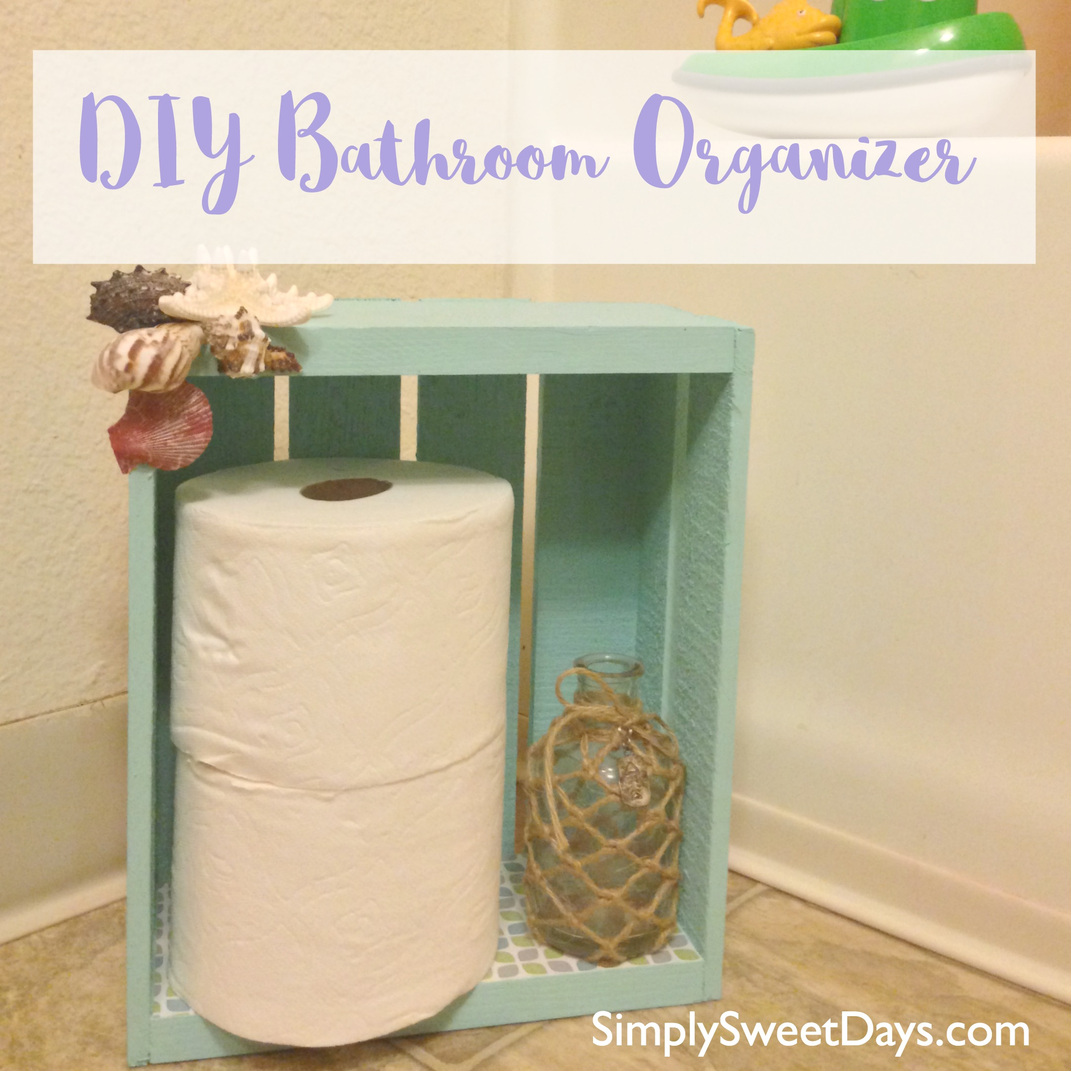 Covered Toilet Paper Storage Diy Bathroom Organizer And Toilet Paper Holder Simply Sweet Days