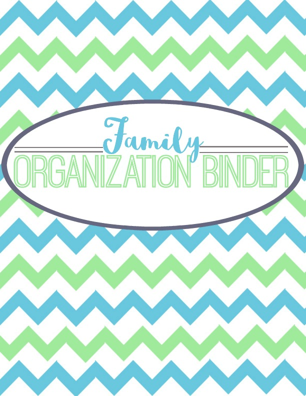 family-organization-binder-cover-page Simply Sweet Days