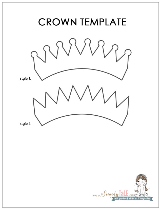 DIY} a Crown hair clip for my princess Simply Tale - crown template