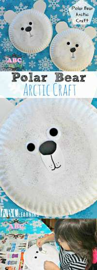 Easy Polar Bear Arctic Craft Paper Plate Perfect For ...