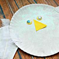 Easy Paper Plate Snowy Owl Kids Craft