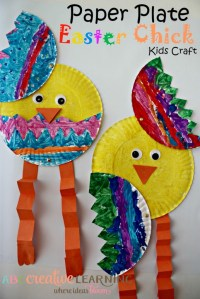 Paper Plate Easter Chick Kids Craft