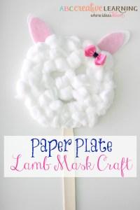 Paper Plate Lamb Mask Craft
