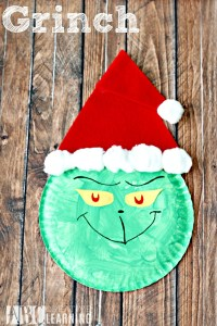 Grinch Paper Plate Craft - Simply Today Life