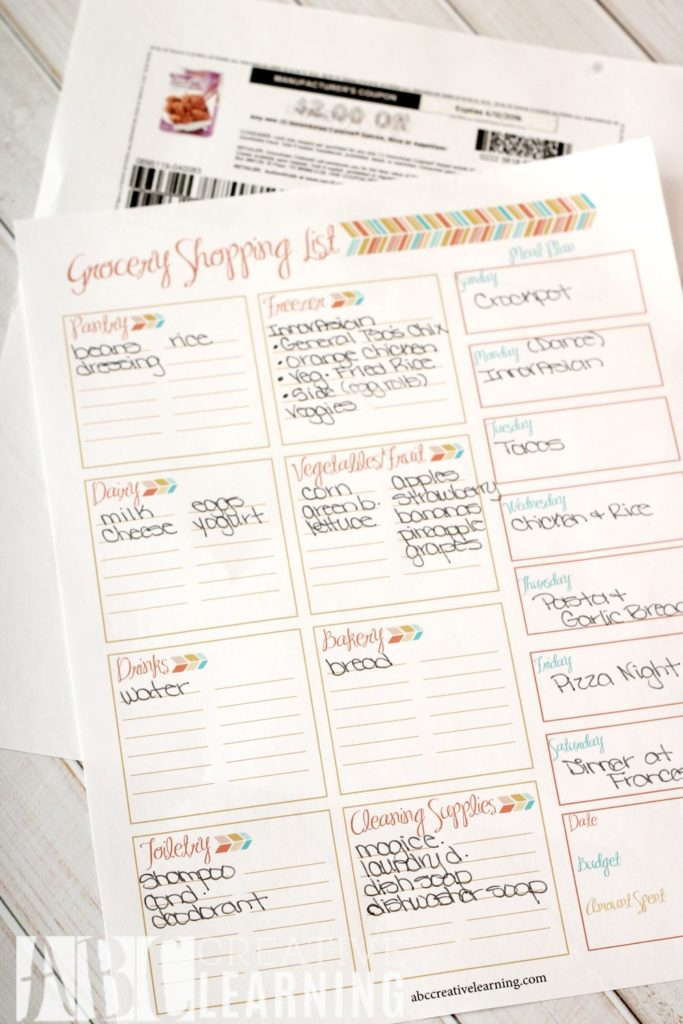 Weekly Meal Planner and Grocery Shopping List - Simply Today Life - weekly dinner planner with grocery list