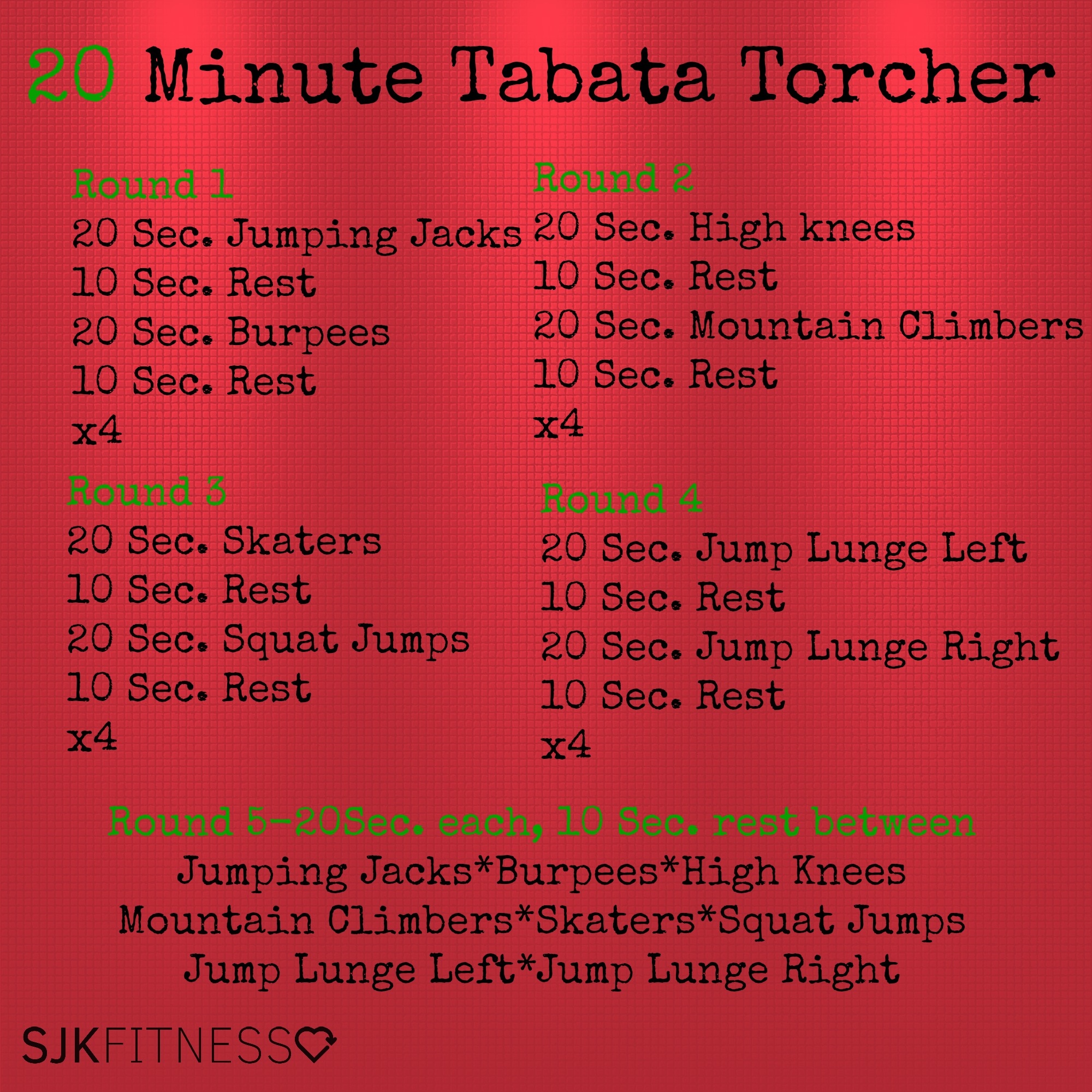 20 Minute At Home Cardio Workout Tabata Archives Simply Well Coaching