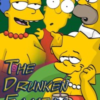 [Comics Toons] The Drunken Family (The Simpsons): Drinks and swining for tonight!