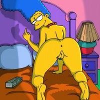 Marge Simpson shows hot ass and ready to hard fuck