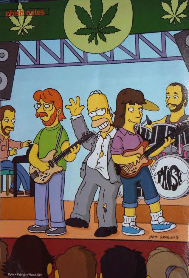 Phish Hd Wallpaper Phish On The Simpsons