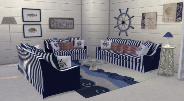 6 Chaises Blanches Deco Marine Custom Content Cc Sims 4 Seaside