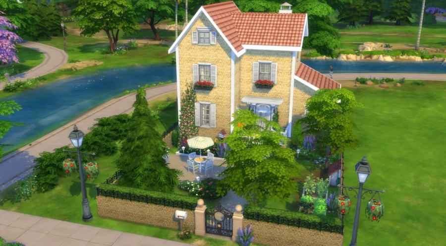 Salon De Jardin 12 Places Sims 4 Téléchargement Maison Sans Cc Download House No Cc