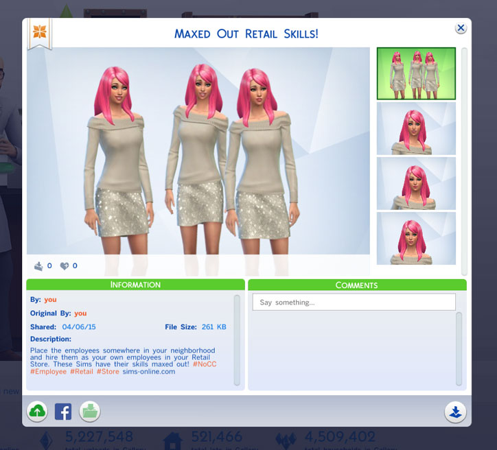 Cheats to Max Retail Skills in The Sims 4 Get to Work - retail skill