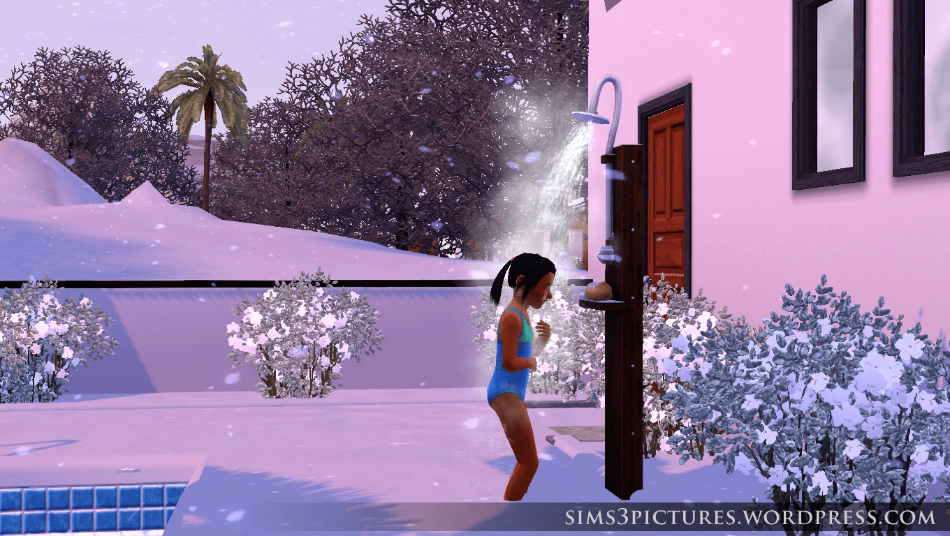 Outdoor Shower Tumblr Outdoor Shower In Winter Sims 3 Pictures
