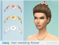 Sims by Severinka: Wedding hair flowers  Sims 4 Downloads