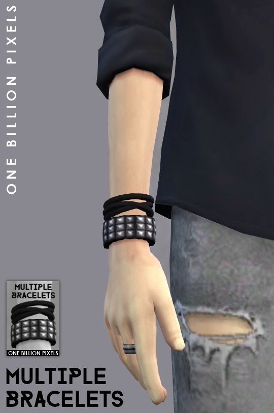 Black Doors One Billion Pixels: Multiple Bracelets & Male Sim • Sims 4