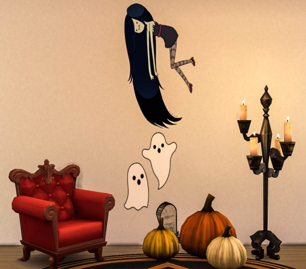 Cute Lace Wallpaper Ohmyglobsims Cute Halloween Wallpaper Decals Sims 4