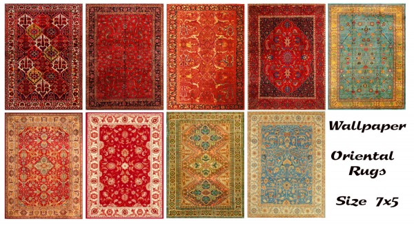 Sims 1 Collection Mod The Sims Oriental Rugs Size 7x5 By Wallpaper • Sims 4