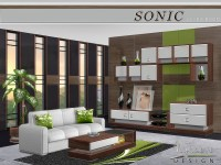 The Sims Resource: Sonic Livingroom by Nynaeve Design ...