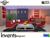 The Sims Resource: Invents Living Room by jomsims  Sims 4 ...