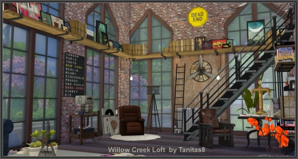 Cars Wallpaper With Names Tanitas Sims Willow Creek Loft Sims 4 Downloads