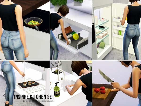 Designer Furniture Websites The Sims Resource: Inspire Kitchen Set By K-omu • Sims 4