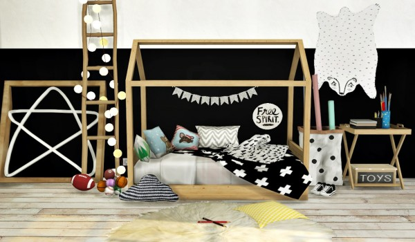 Mxims Bambooko Toddlers Bed And Blanket O Sims 4 Downloads