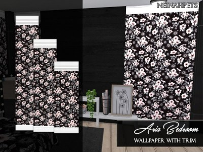 The Sims Resource: Aria Wallpaper with Trim by neinahpets • Sims 4 Downloads