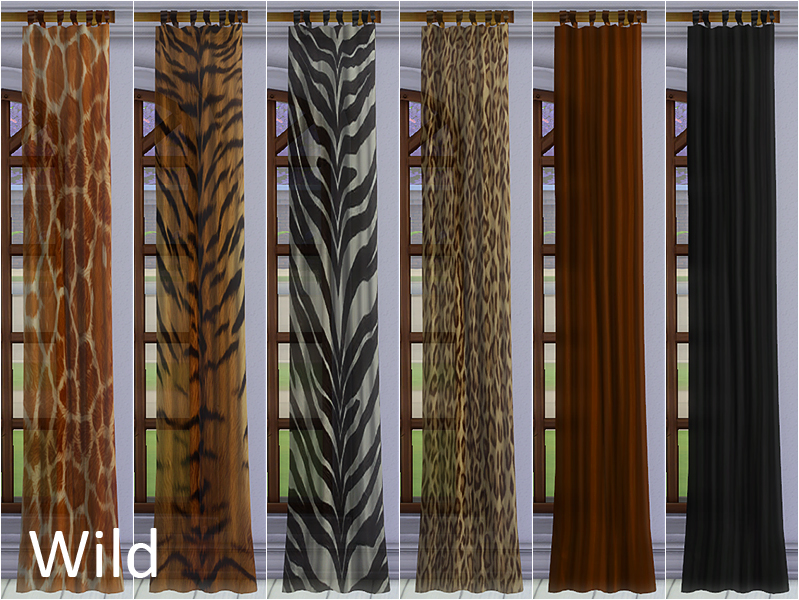 Gardinen Set Adventure Curtains – Sims4fun