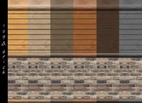 Log Cabin Interior Wall Set 18 Colors by mustluvcatz at ...