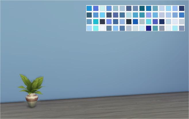 3d Wallpaper Designs For Living Room 60 Shades Of Blue Walls At Veranka 187 Sims 4 Updates