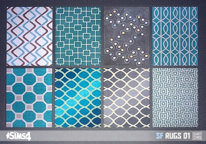 Black And Mustard Wallpaper Sf Rugs 01 At Oh My Sims 4 187 Sims 4 Updates