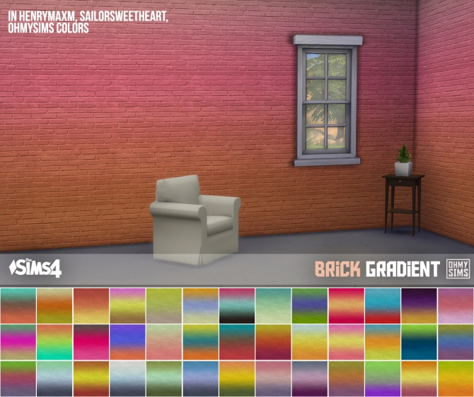 Rug Under Kitchen Table 3 Sets Of Brick Wallpaper At Oh My Sims 4 » Sims 4 Updates
