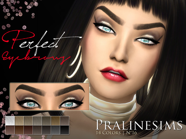 10 Different Eyebrows Megapack By Pralinesims At Tsr